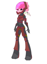 Size: 1700x2338 | Tagged: safe, artist:j053ph-d4n13l, oc, oc only, oc:cheery candy, oc:hard-candy, equestria girls, alternate universe, armor, boots, commission, equestria girls-ified, female, helmet, multicolored hair, rainbow hair, shoes, simple background, transparent background