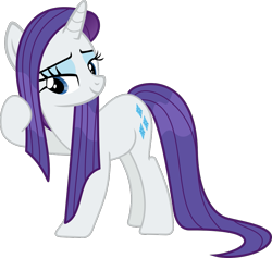 Size: 1055x1000   Tagged: safe, artist:phucknuckl, rarity, pony, unicorn, campfire tales, bedroom eyes, female, mare, raised hoof, simple background, solo, transparent background, vector, wet, wet mane, wet mane rarity