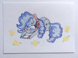 Size: 1500x1125 | Tagged: safe, artist:dawnfire, oc, oc only, oc:cinnabyte, earth pony, pony, adorkable, commission, crayon, cute, dork, flower, gaming headset, glasses, headphones, headset, nintendo switch, solo, switch, traditional art