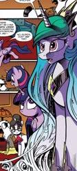 Size: 568x1267 | Tagged: safe, artist:andypriceart, idw, princess celestia, twilight sparkle, alicorn, spoiler:comic62, comic panel, twilight sparkle (alicorn)