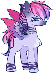 Size: 459x636 | Tagged: safe, artist:mvnchies, oc, oc only, pegasus, pony, chest fluff, ear piercing, ethereal mane, pegasus oc, piercing, simple background, solo, starry mane, tattoo, transparent background, wings