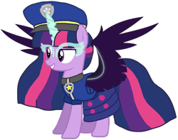 Size: 1340x1056 | Tagged: safe, artist:徐詩珮, twilight sparkle, alicorn, pony, series:sprglitemplight diary, series:sprglitemplight life jacket days, series:springshadowdrops diary, series:springshadowdrops life jacket days, equestria girls, alternate universe, base used, chase (paw patrol), clothes, equestria girls ponified, evil grin, evil twilight, female, grin, mare, midnight sparkle, paw patrol, ponified, princess midnight, simple background, smiling, solo, transparent background, twilight sparkle (alicorn)