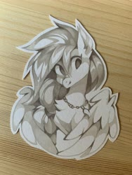 Size: 3024x4032 | Tagged: safe, artist:share dast, silverstream, hippogriff, bust, solo