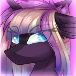Size: 1280x1280 | Tagged: safe, artist:redheartponiesfan, oc, oc:dawn dust, pony, unicorn, bust, female, mare, portrait, solo