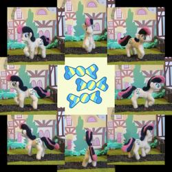 Size: 1024x1024 | Tagged: safe, artist:malte279, bon bon, sweetie drops, earth pony, collage, craft, cutie mark, felt, felting, needle felted, plushie