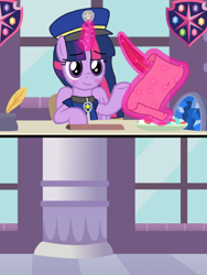 Size: 1080x1440 | Tagged: safe, artist:徐詩珮, twilight sparkle, alicorn, series:sprglitemplight diary, series:sprglitemplight life jacket days, series:springshadowdrops diary, series:springshadowdrops life jacket days, alternate universe, base used, blushing, chase (paw patrol), clothes, female, implied shipping, meme, paw patrol, twilight sparkle (alicorn)