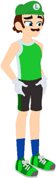 Size: 199x632 | Tagged: safe, artist:selenaede, artist:user15432, human, equestria girls, barely eqg related, cap, clothes, crossover, equestria girls style, equestria girls-ified, gloves, green shoes, hat, luigi, luigi's hat, mario & sonic, mario & sonic at the olympic games, mario & sonic at the olympic games tokyo 2020, mario and sonic, mario and sonic at the olympic games, nintendo, olympics, shoes, shorts, sneakers, socks, sports, sports outfit, sports shorts, sporty style, super mario bros.