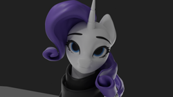 Size: 1920x1080 | Tagged: safe, artist:appletree12112, rarity, pony, unicorn, 3d, clothes, female, looking at you, mare, solo