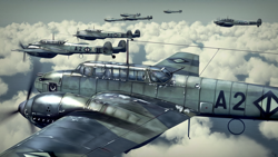 Size: 3840x2160 | Tagged: safe, artist:richmay, changeling, equestria at war mod, barely pony related, formation, green changeling, gunner, hearts of iron 4, high res, messerschmitt bf 110, pilot, plane, purple changeling, world war ii