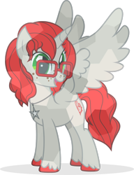 Size: 1280x1665 | Tagged: safe, artist:mlp-trailgrazer, oc, oc:aria diamond, alicorn, crystal pony, pony, crystallized, female, glasses, mare, simple background, solo, transparent background