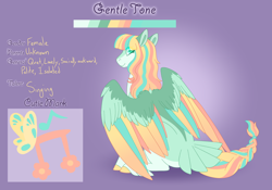 Size: 3500x2454 | Tagged: safe, artist:clay-bae, oc, oc:anontone, pegasus, pony, colored wings, female, mare, multicolored wings, reference sheet, solo, wings