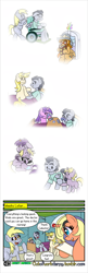 Size: 1280x3969 | Tagged: safe, artist:outofworkderpy, a.k. yearling, amethyst star, derpy hooves, dinky hooves, rising star, sparkler, oc, oc:a. k. yearling, oc:acky, oc:evening doo, oc:morning doo, oc:rising star, pony, unicorn, comic:out of work derpy, friendship is magic, brony, christomancer, comic, comic strip, family matters, female, filly, foal, male, mare, my little pony, out of work derpy, outofworkderpy, stallion