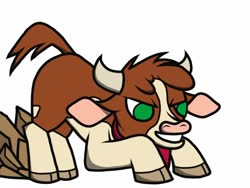 Size: 1024x768 | Tagged: safe, artist:fatalse7en, arizona cow, cow, them's fightin' herds, community related, horns, solo
