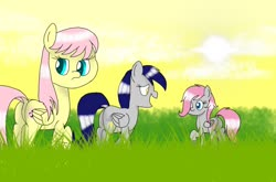 Size: 1088x720 | Tagged: safe, artist:crystal wishes, edit, oc, oc:cute wing, oc:iree heaven, oc:stormlight, pegasus, pony, female, forest background, mare, solo