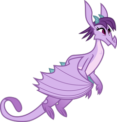 Size: 4000x4160 | Tagged: safe, artist:melisareb, prominence, dragon, between dark and dawn, .svg available, absurd resolution, badass, cute, dragoness, female, flying, inkscape, promibetes, simple background, solo, transparent background, vector, wings