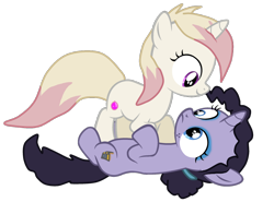 Size: 1102x814 | Tagged: safe, artist:hawkinsam, pony, unicorn, ducktales, female, filly, imminent sex, lena despell, ponified, simple background, transparent background, violet sabrewing