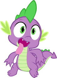 Size: 4303x5890 | Tagged: safe, artist:memnoch, spike, dragon, absurd resolution, cute, looking at you, male, simple background, solo, spikabetes, tongue out, transparent background, vector
