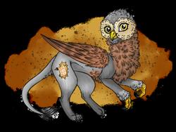 Size: 2048x1536 | Tagged: safe, artist:melonseed11, oc, griffon, cutie mark on griffon, male, solo