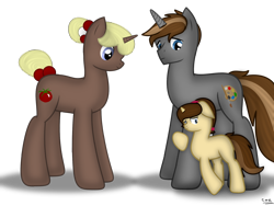 Size: 1800x1350 | Tagged: safe, artist:99999999000, oc, oc:mar baolin, oc:mar ker, pony, unicorn, daughter, father, father and child, father and daughter, female, filly, male, scared, simple background, transparent background, young