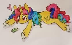 Size: 1280x801 | Tagged: safe, artist:ask-pinkie-polkadot-pie, oc, oc:tic-tac-toe, pony, unicorn, female, mare, solo, traditional art