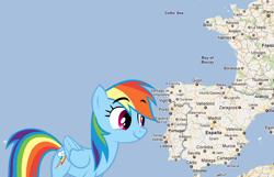 Size: 700x451 | Tagged: safe, rainbow dash, france, map, portugal, spain