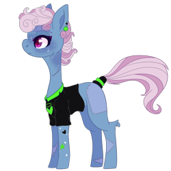 Size: 2500x2500 | Tagged: safe, artist:bublebee123, oc, oc only, oc:blue lightning (ice1517), pegasus, pony, icey-verse, alternate hairstyle, blank flank, clothes, commission, ear piercing, earring, female, freckles, jewelry, magical lesbian spawn, mare, missing wing, offspring, parent:bluebonnet, parent:rolling thunder, parents:bluethunder, piercing, redesign, scar, shirt, simple background, solo, stitches, tattoo, transparent background