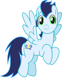 Size: 2270x2817 | Tagged: safe, alternate version, artist:chainchomp2, soarin', pegasus, pony, parental glideance, .svg available, alternate versions at source, flying, high res, looking at you, male, simple background, solo, stallion, transparent background, vector