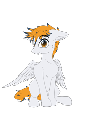 Size: 4677x6614 | Tagged: safe, artist:calena, derpibooru exclusive, oc, oc only, oc:grazysmash, pegasus, pony, simple background, solo, transparent background