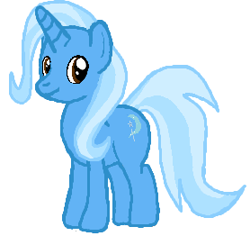 Size: 278x262 | Tagged: safe, artist:qjosh, trixie, unicorn, simple background, white background