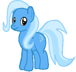 Size: 276x261 | Tagged: safe, artist:qjosh, trixie, earth pony, race swap, simple background, white background