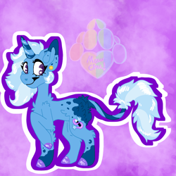 Size: 768x768 | Tagged: safe, artist:mewwchuu, trixie, pony, unicorn, alternate universe, ear piercing, earring, fluffy, jewelry, leonine tail, piercing, smiling