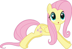 Size: 2562x1739 | Tagged: safe, artist:frownfactory, fluttershy, pony, dragonshy, .svg available, :o, open mouth, simple background, solo, surprised, svg, transparent background, vector