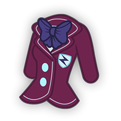 Size: 256x256 | Tagged: safe, sunny flare, equestria girls, badge, bowtie, clothes, crystal prep academy uniform, jacket, no human, no pony, school uniform, simple background, solo, transparent background
