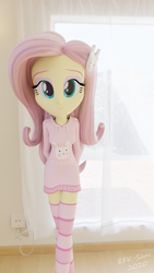Size: 1080x1920 | Tagged: safe, artist:efk-san, fluttershy, equestria girls, 3d, clothes, solo, sweater