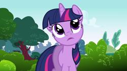 Size: 1920x1080 | Tagged: safe, screencap, twilight sparkle, pony, unicorn, friendship is magic, solo, tree, unicorn twilight