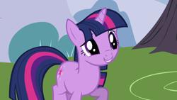 Size: 1920x1080 | Tagged: safe, screencap, twilight sparkle, pony, unicorn, friendship is magic, cute, raised hoof, smiling, solo, twiabetes, unicorn twilight