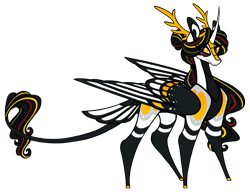 Size: 1750x1342 | Tagged: safe, artist:australian-senior, oc, oc only, oc:niomedes invictus, alicorn, kirin, pony, kirindos, glados, portal (valve), simple background, solo, transparent background