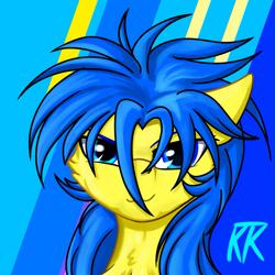 Size: 999x999 | Tagged: safe, artist:ktk's sky, oc, oc:redsun sky, pegasus, blue eyes, headphones, male, solo