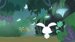 Size: 1920x1080 | Tagged: safe, screencap, angel bunny, fluttershy, she talks to angel, body swap