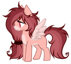 Size: 466x422 | Tagged: safe, artist:mintoria, oc, oc:rose scribbles, pegasus, base used, messy mane, pegasus oc, ponytail, simple background, transparent background, wings