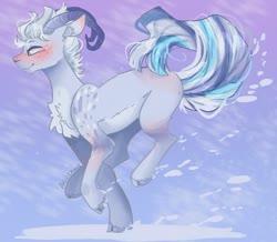 Size: 1280x1117 | Tagged: safe, artist:akiiichaos, oc, oc:bailey, earth pony, pony, horns, male, running, solo