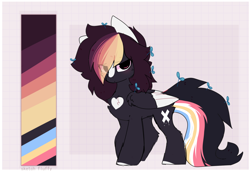 Size: 1816x1242 | Tagged: safe, artist:little-sketches, oc, oc:ayaka, pegasus, pony, alternate design, female, mare, reference sheet, solo, species swap, two toned wings, wings