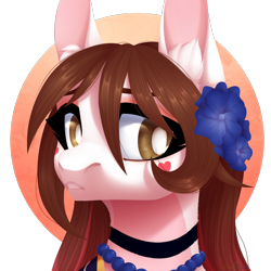 Size: 1000x1000 | Tagged: safe, artist:nika-rain, oc, oc only, pony, bust, cute, female, portrait, simple background, solo, trade, transparent background