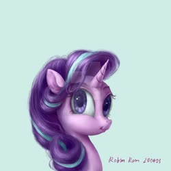 Size: 1280x1280 | Tagged: safe, artist:robinnomadrain, starlight glimmer, pony, unicorn, obtrusive watermark, solo, watermark