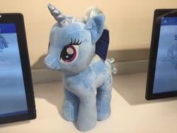 Size: 400x300 | Tagged: safe, artist:matthewbro1, trixie, unicorn, build-a-bear, photo, plushie, solo