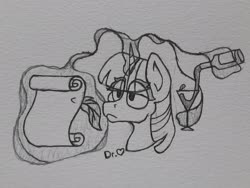 Size: 2578x1934   Tagged: safe, artist:drheartdoodles, twilight sparkle, alcohol, bust, feather, female, magic, mare, portrait, scroll, solo, traditional art, wine
