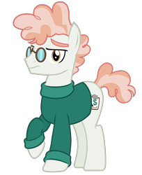 Size: 2767x3397 | Tagged: safe, artist:connorbal, svengallop, pony, clothes, oopsverse, simple background, solo, sweater, transparent background