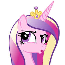 Size: 2449x2449 | Tagged: safe, artist:foxtail8000, princess cadance, alicorn, pony, .svg available, :o, bust, crown, female, jewelry, mare, open mouth, regalia, simple background, solo, transparent background, vector