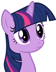 Size: 2163x2772 | Tagged: safe, artist:almostfictional, twilight sparkle, pony, unicorn, green isn't your color, bust, female, frown, mare, simple background, solo, thousand yard stare, transparent background, unicorn twilight, vector