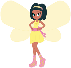 Size: 629x599 | Tagged: safe, artist:selenaede, artist:user15432, fairy, human, equestria girls, barely eqg related, base used, boots, bracelet, clothes, crossover, dress, emma the easter fairy, equestria girls style, equestria girls-ified, fairy wings, headband, high heel boots, high heels, jewelry, necklace, rainbow magic (series), shoes, wings